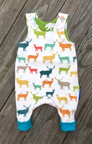 deer romper without feet, size 62/3mo